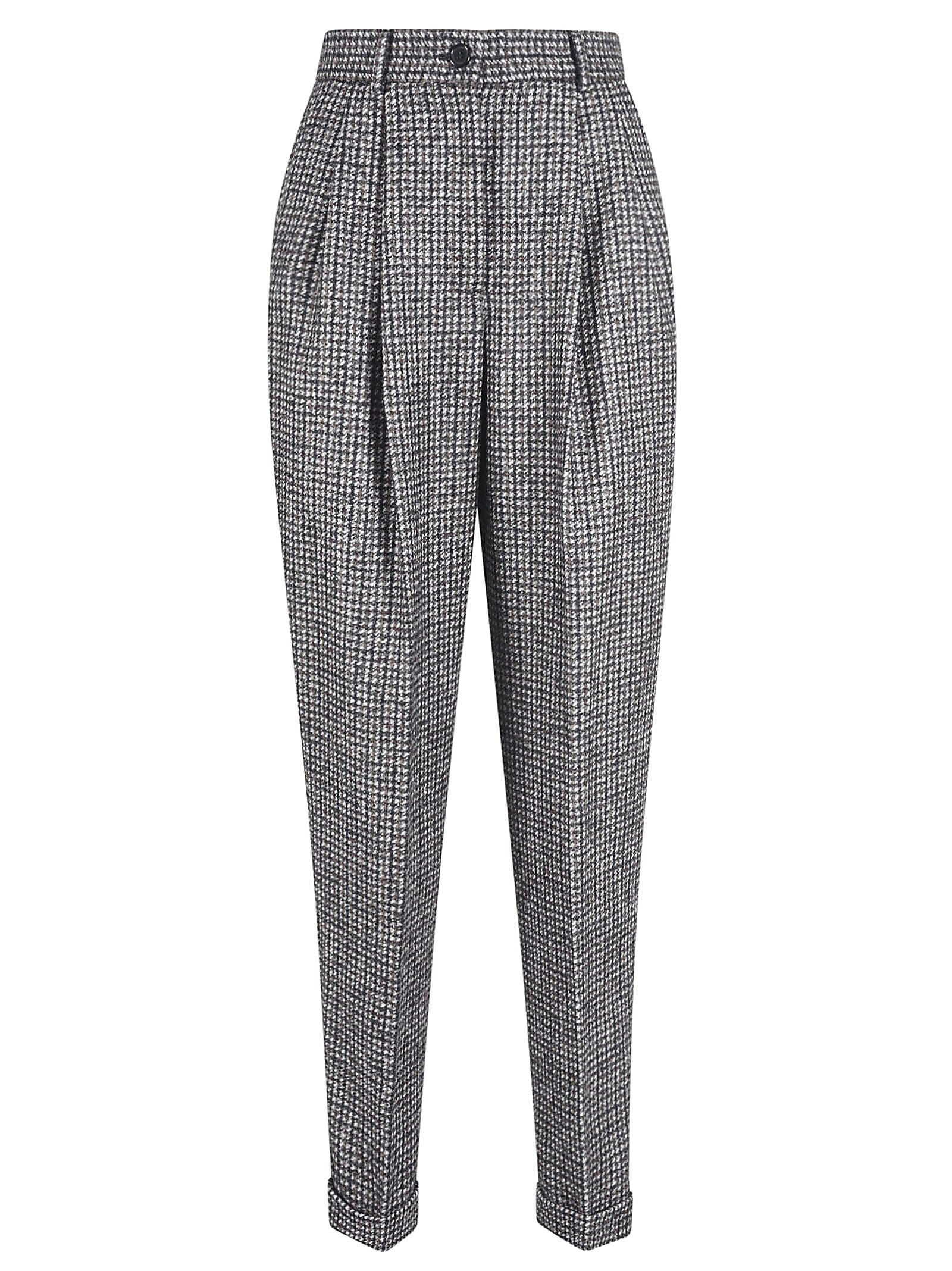 Dolce & Gabbana Slim Checked Trousers