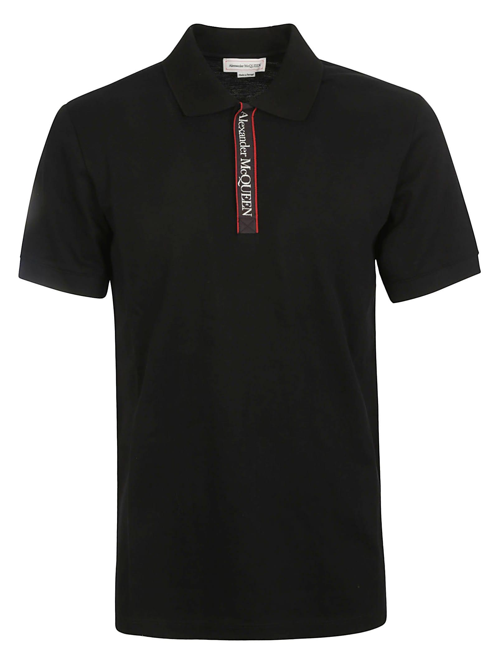 Alexander McQueen Logo Tape Polo Shirt