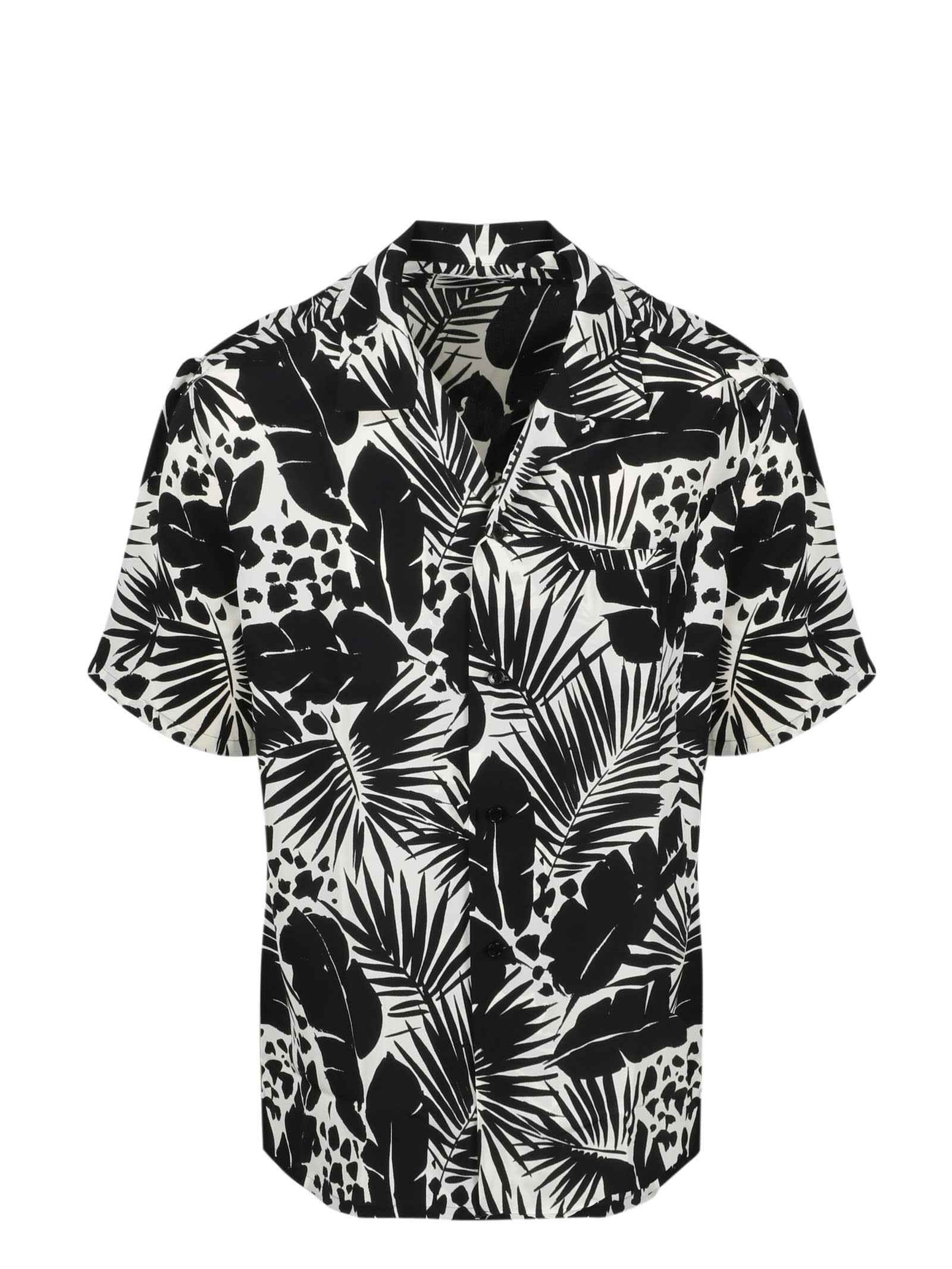 Saint Laurent Printed Silk Shirt