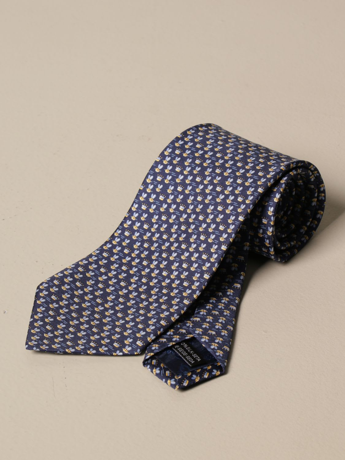 Salvatore Ferragamo Tie Salvatore Ferragamo Silk Tie With Bee Pattern
