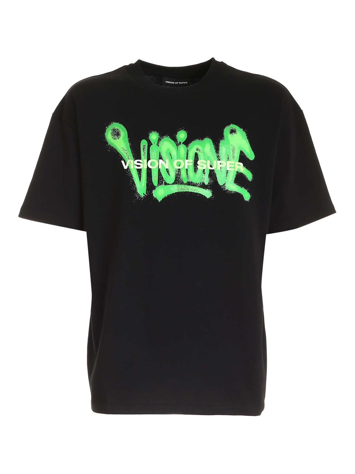 Vision of Super Tshirt With Green Spray