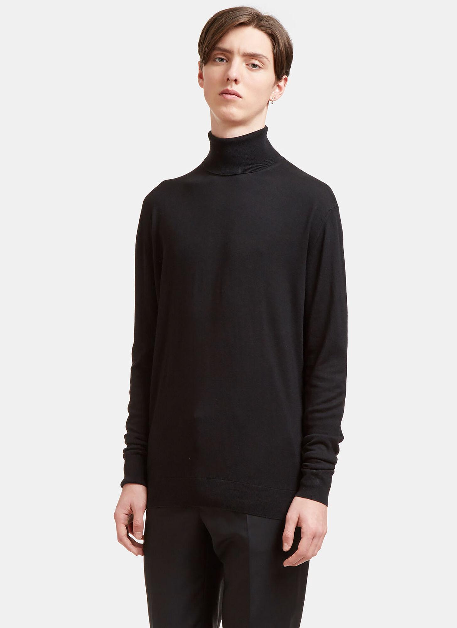 male Black 55% Silk, 45% Cashmere. Dry clean.
