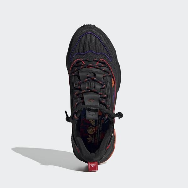 Adidas Ozweego Zip [Q47187] 男鞋 運動 休閒 經典 科技感 舒適 愛迪達 黑 橘