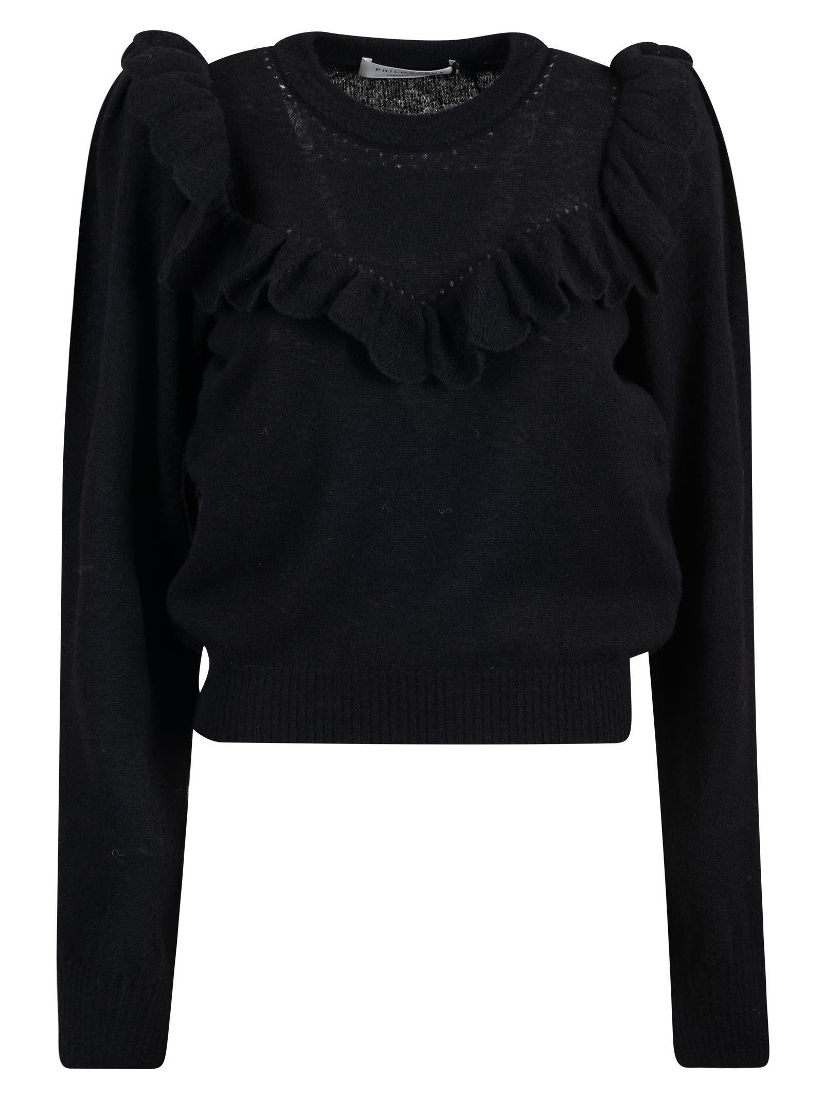 Philosophy di Lorenzo Serafini Ruffle Applique Ribbed Sweater