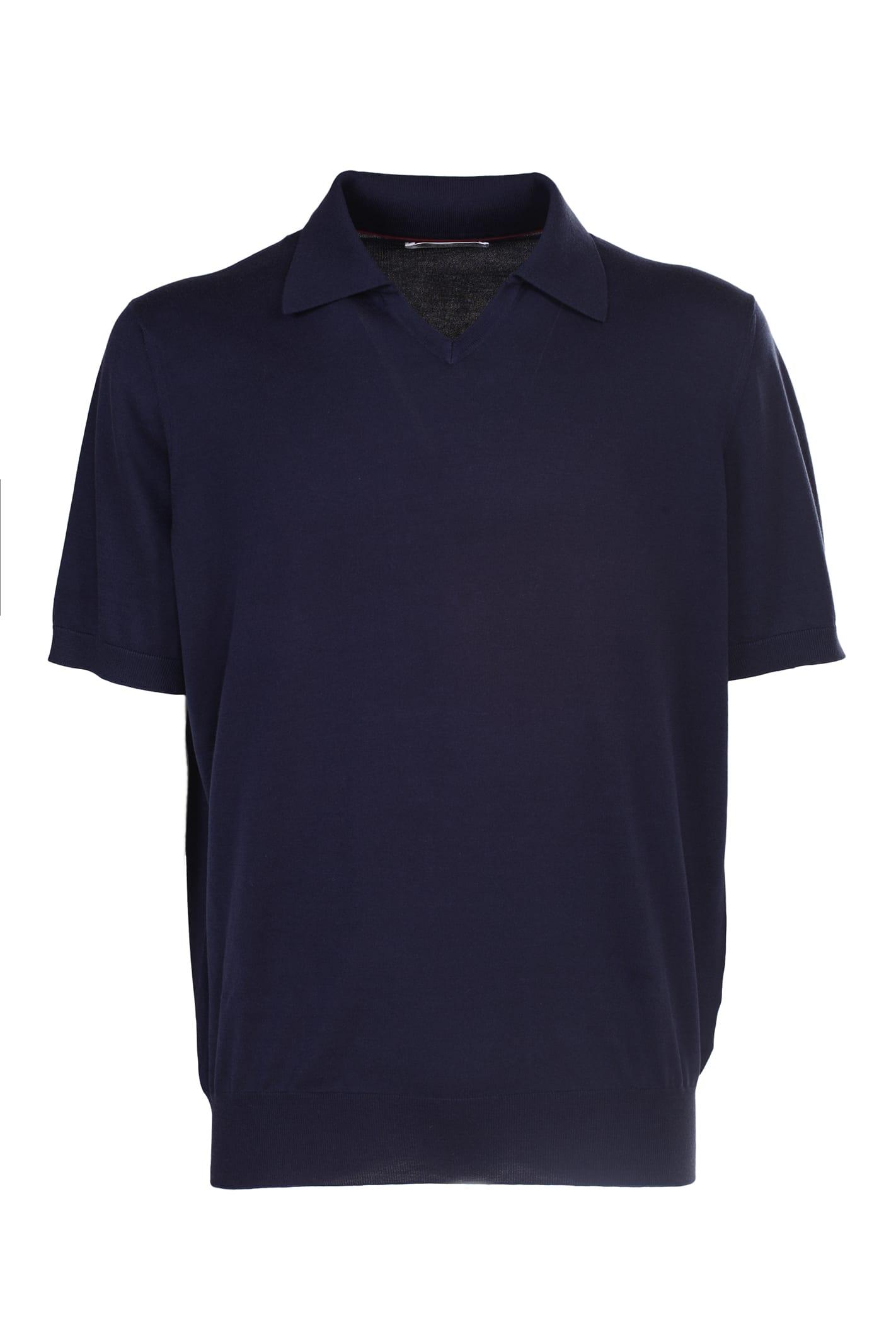 Blue Polo Shirt, Brunello Cucinelli