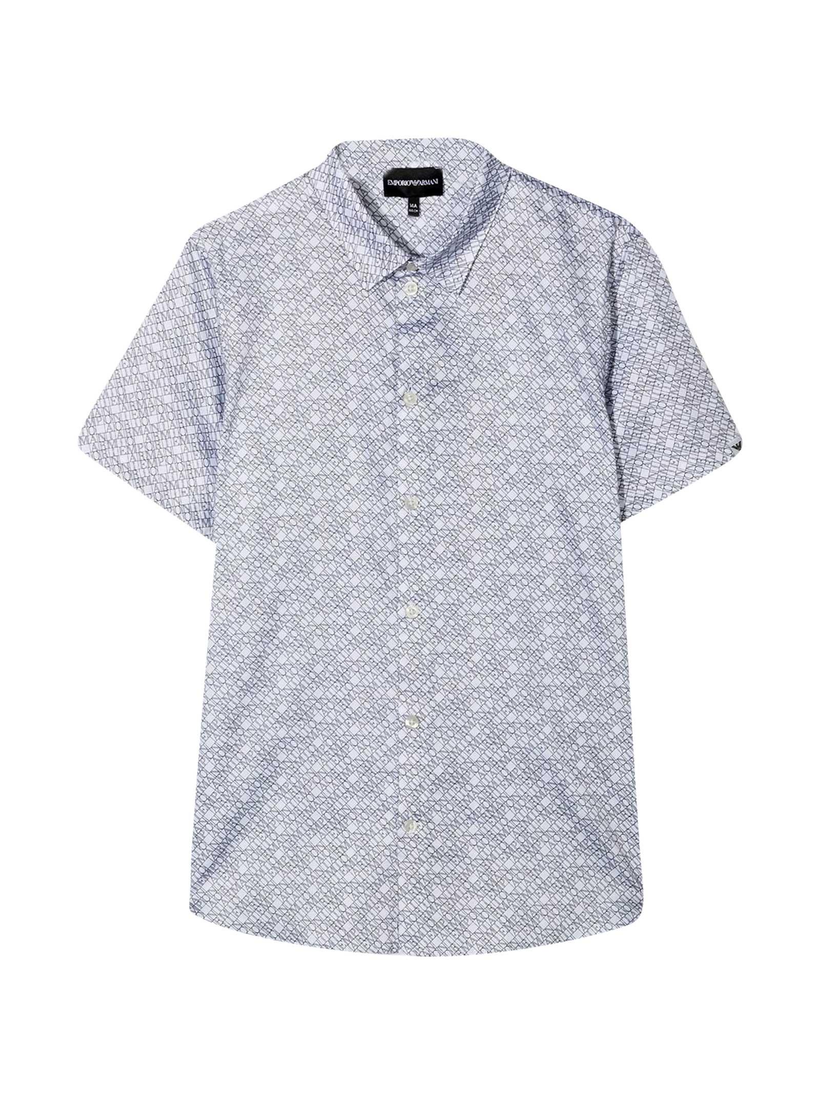 Emporio Armani Teen Shirt With Press