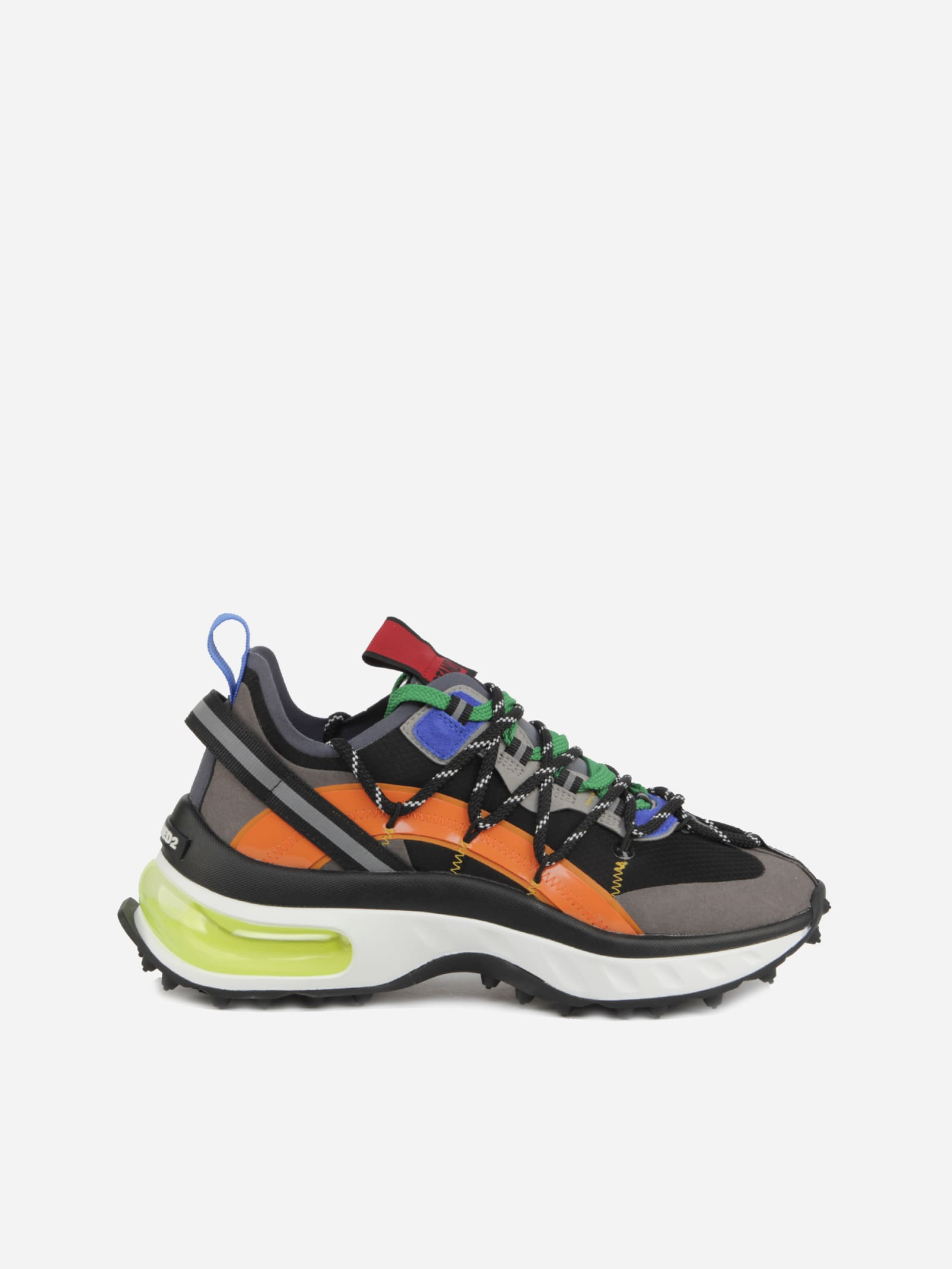 Dsquared2 Bubble Sneakers In Technical Fabric And Suede-effect Details