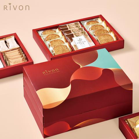 【Rivon禮坊】美好鎏年法點綜合三層禮盒