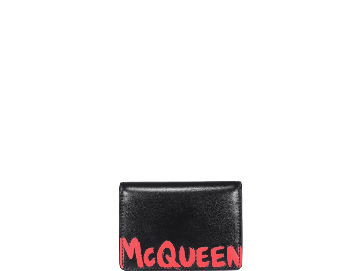 Alexander Mcqueen Logo Graffiti Cards Holder