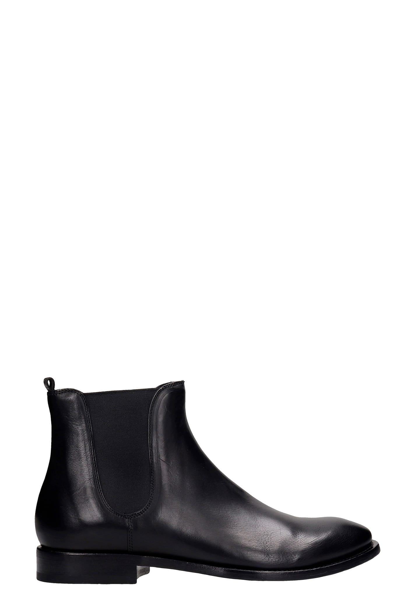 Buttero Low Heels Ankle Boots In Black Leather