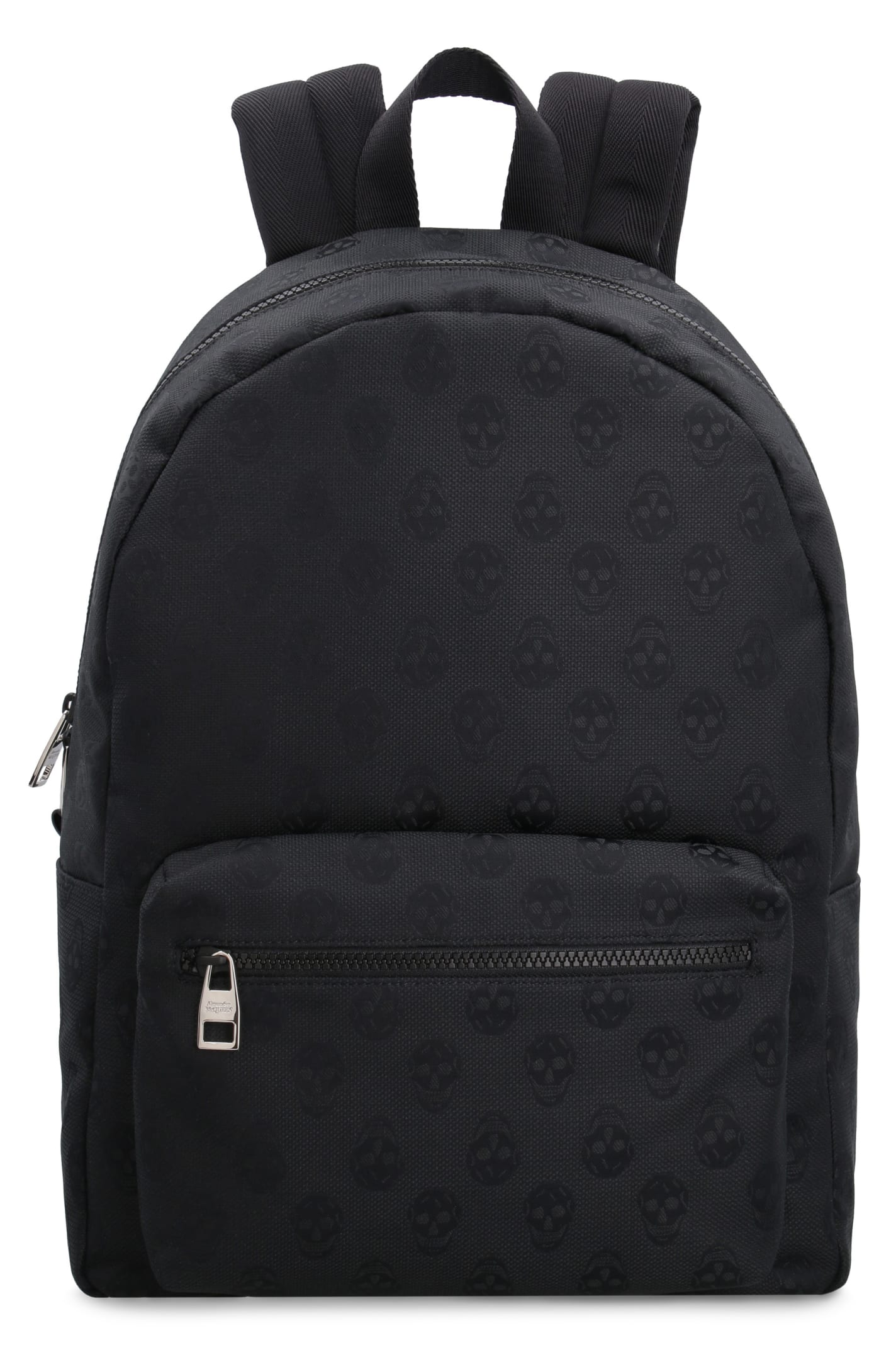 Skull Motif Canvas Backpack