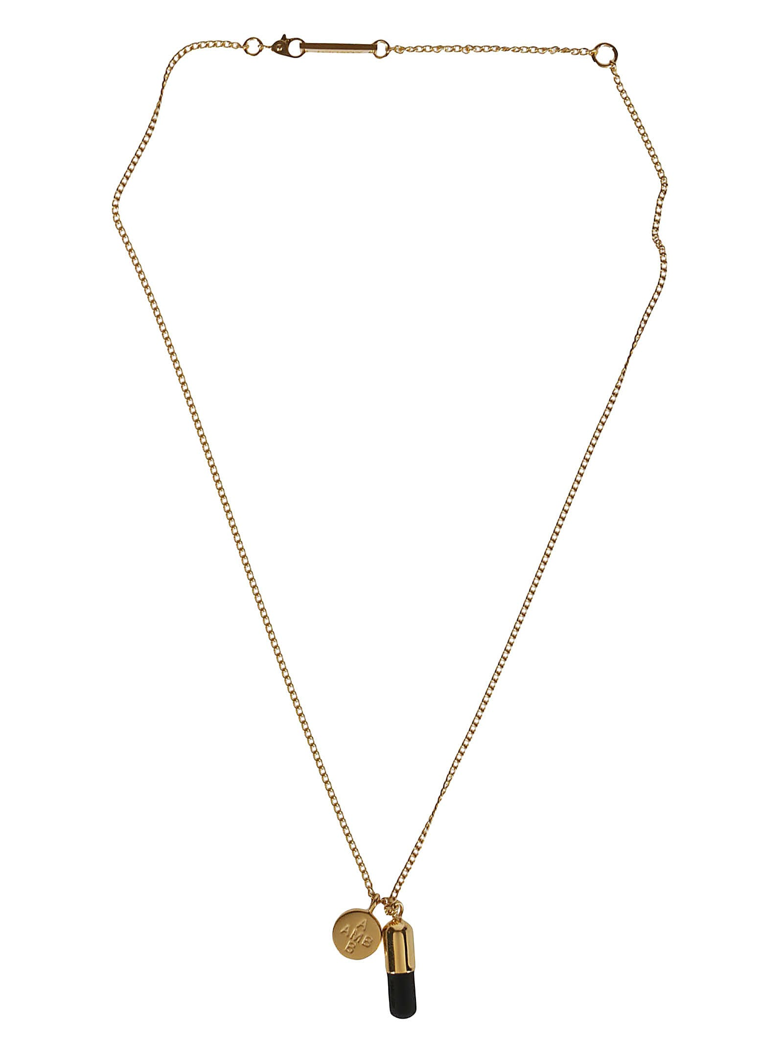 AMBUSH Gold-tone And Black Silver Necklace