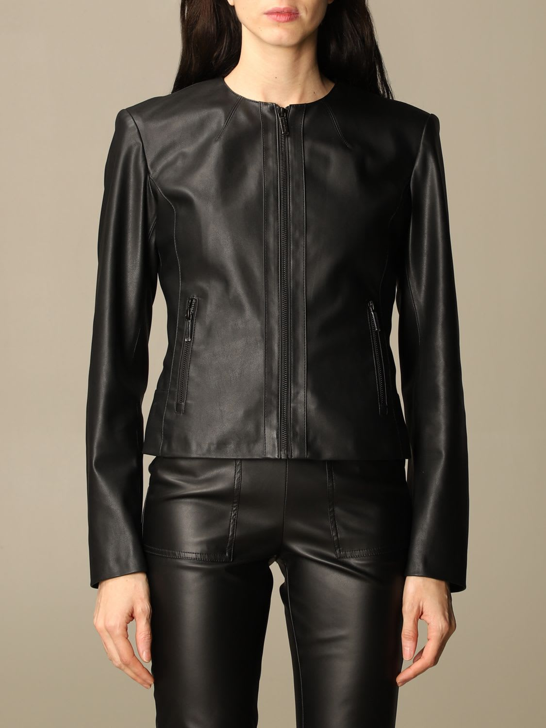 Armani Exchange Jacket Armani Exchange Jacket In Synthetic Leather