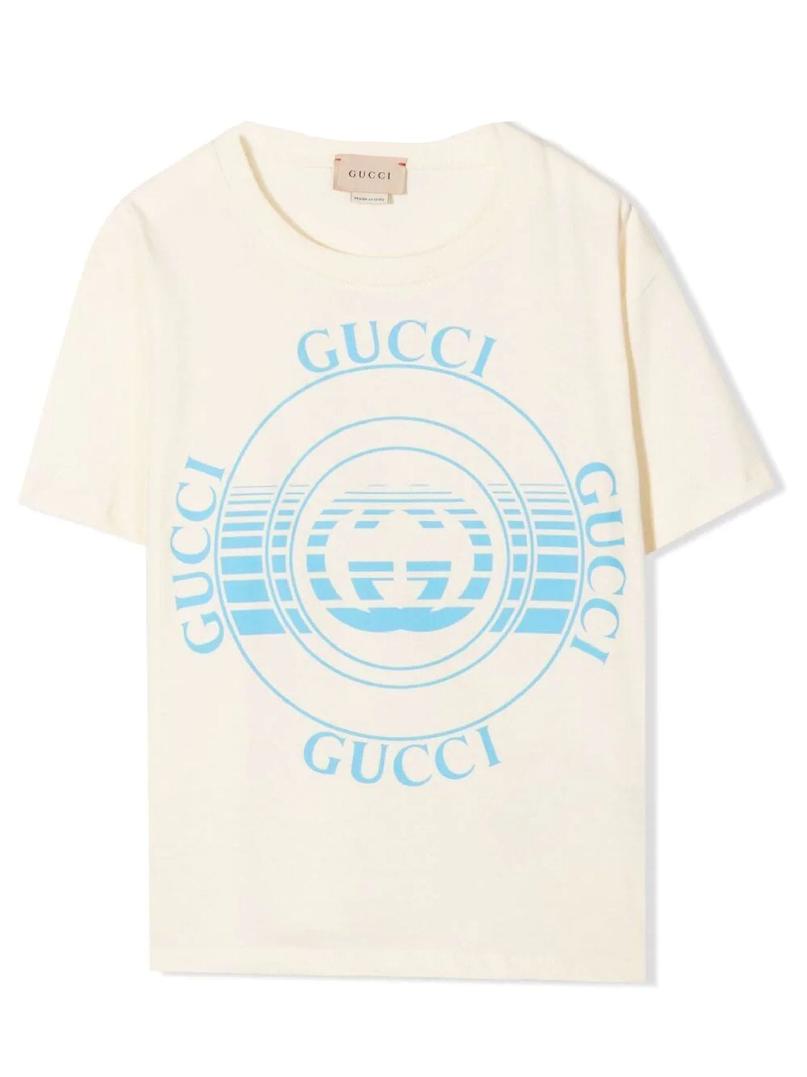 Gucci White Cotton T-shirt