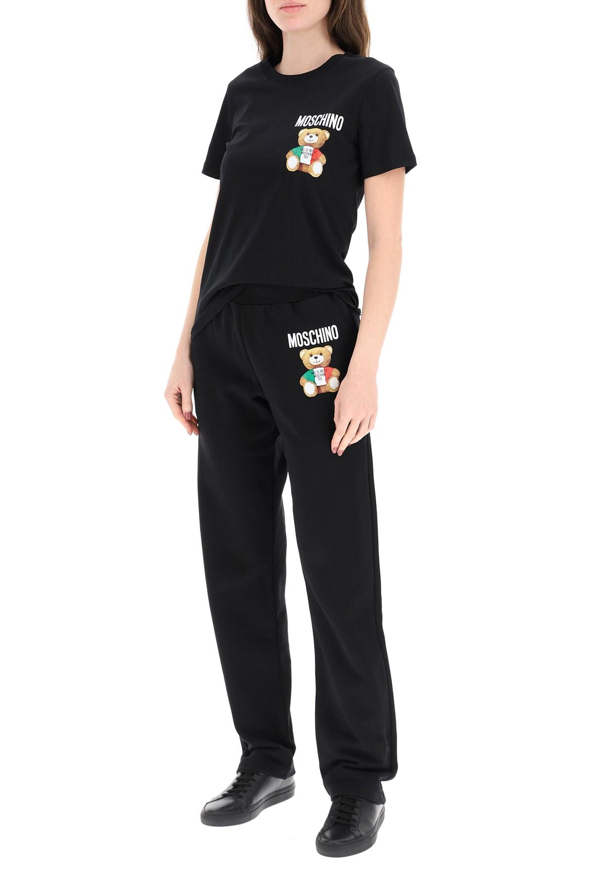 Moschino Italian Teddy Bear Print T-shirt