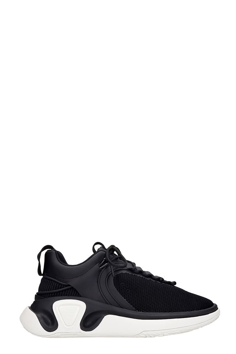 Balmain B Runner Sneakers In Black Synthetic Fibers