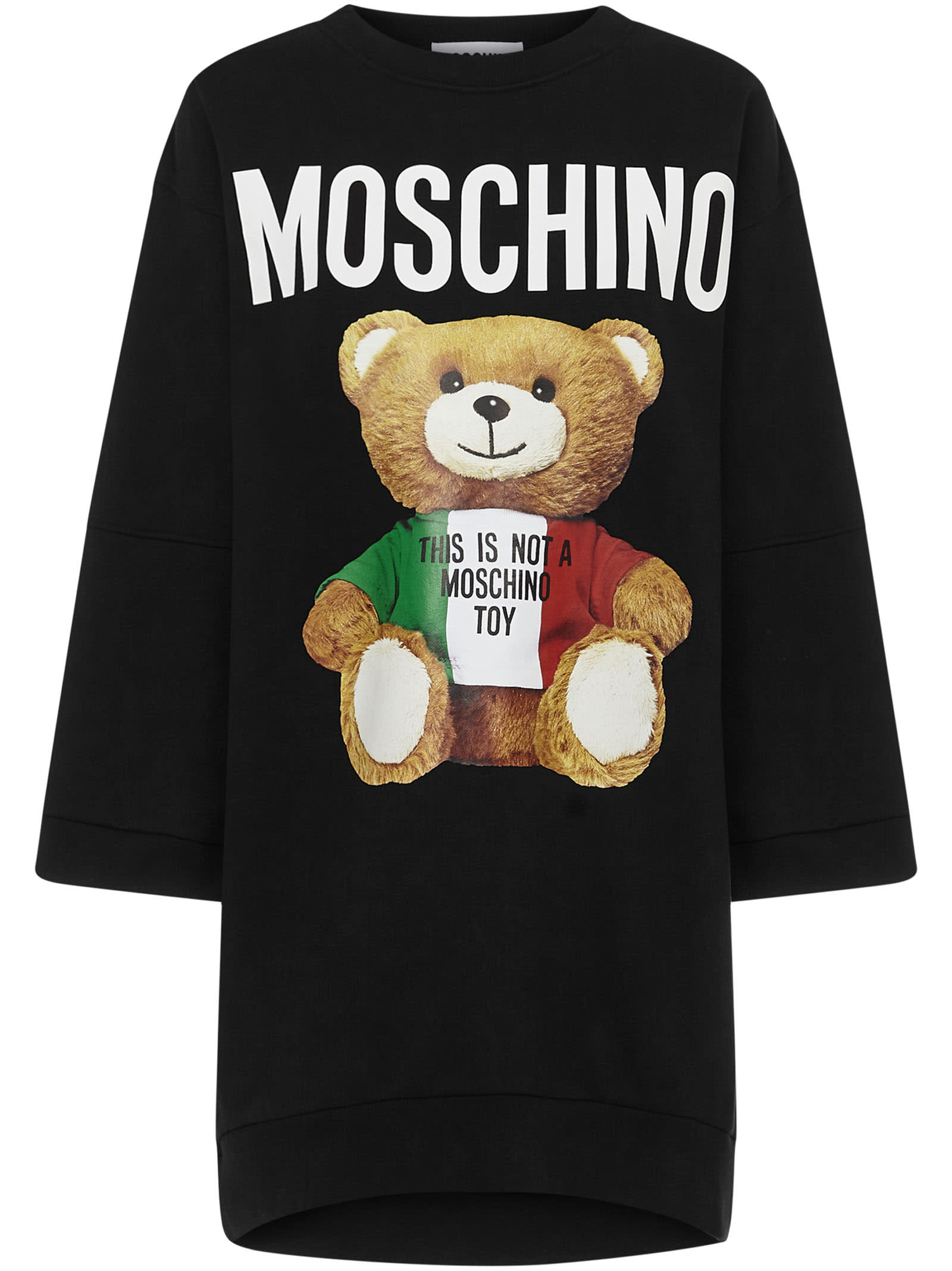 Moschino Italian Teddy Bear Mini Dress