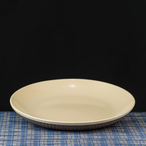雨點白境瓷泥餐盤21cm
