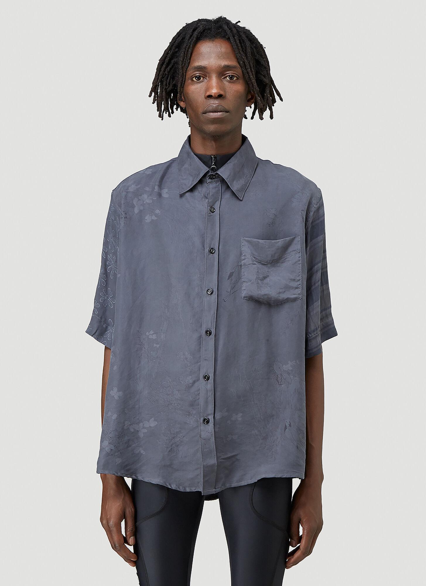 male Grey 100% Silk. Dry clean.