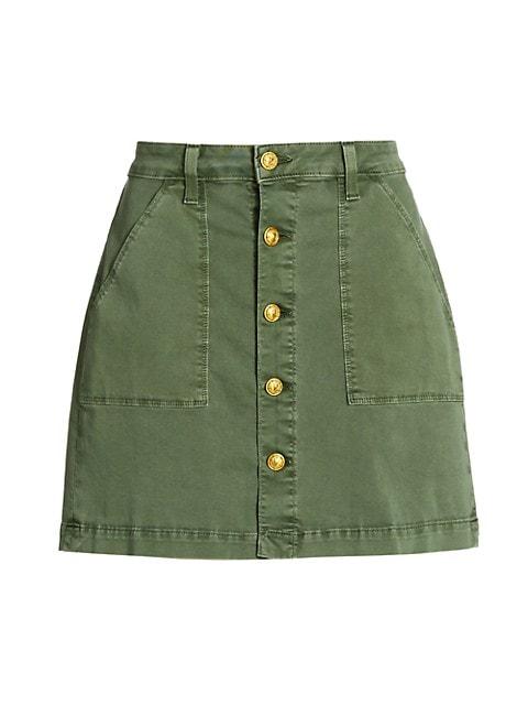 Dora Button Mini Skirt