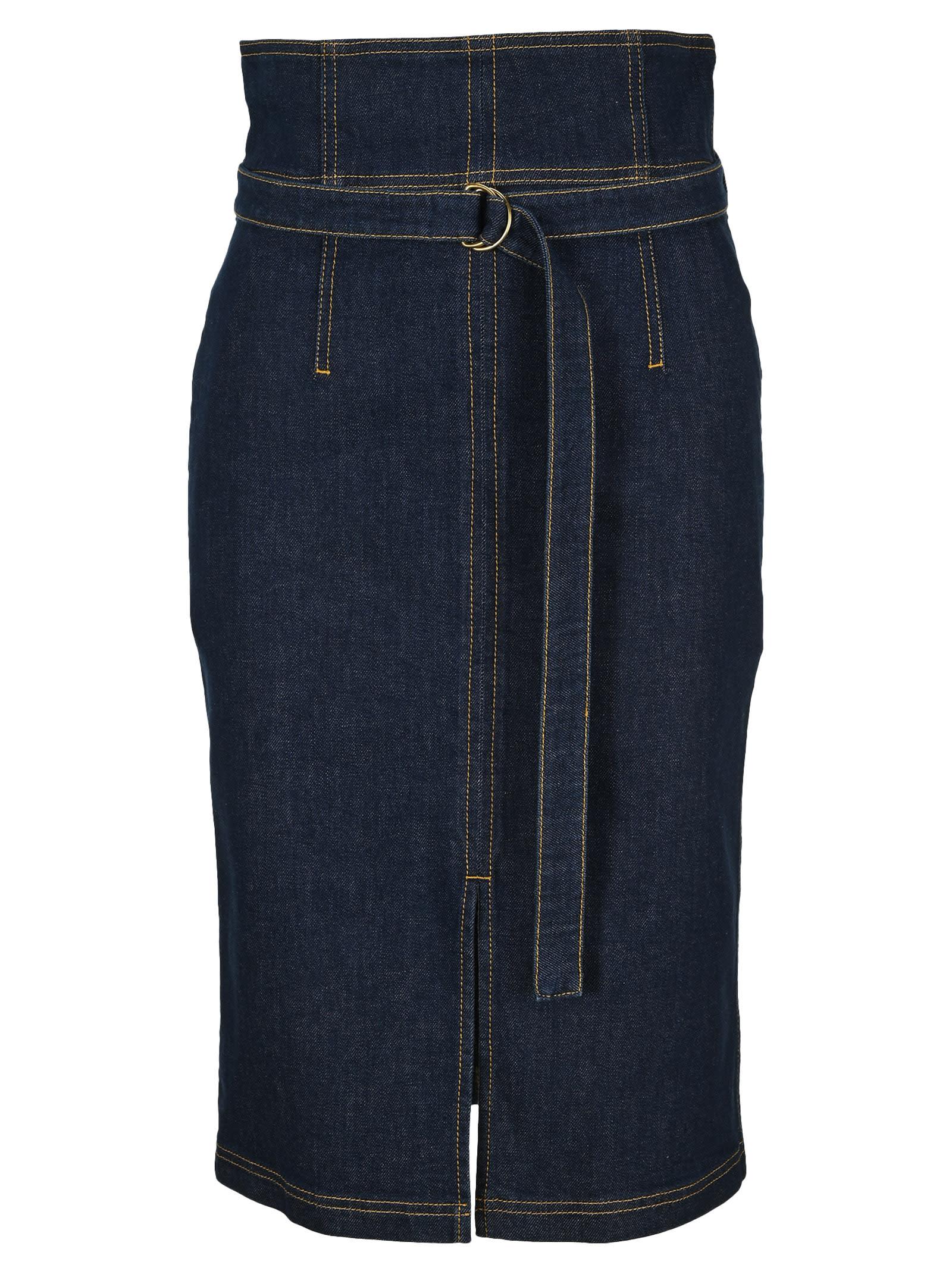 Philosophy Longuette Denim Skirt
