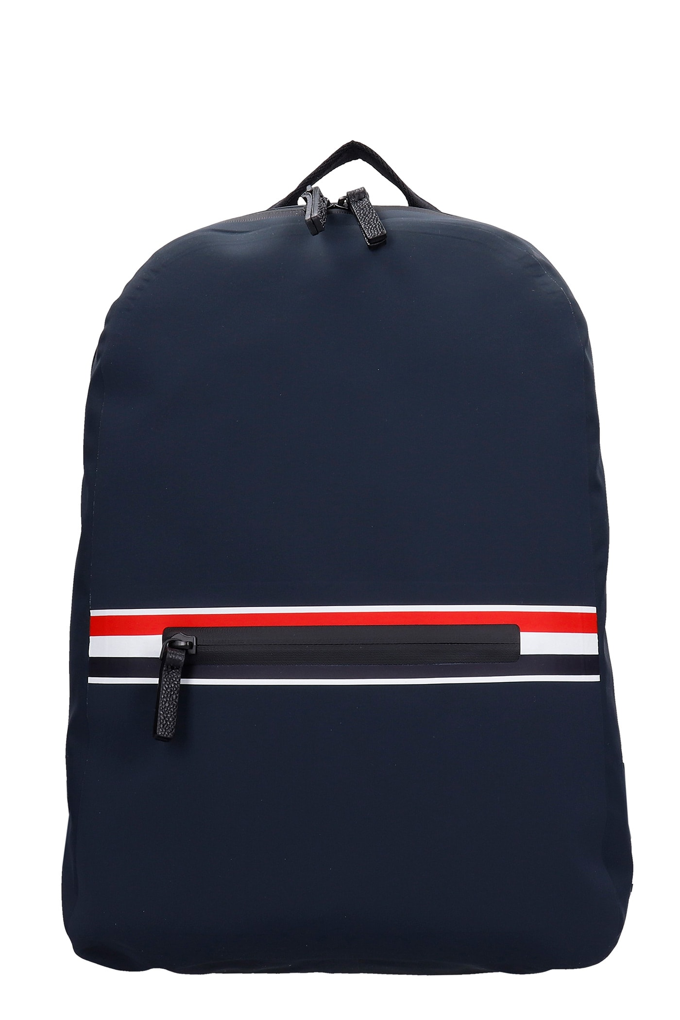 Thom Browne Backpack In Grey Polyester