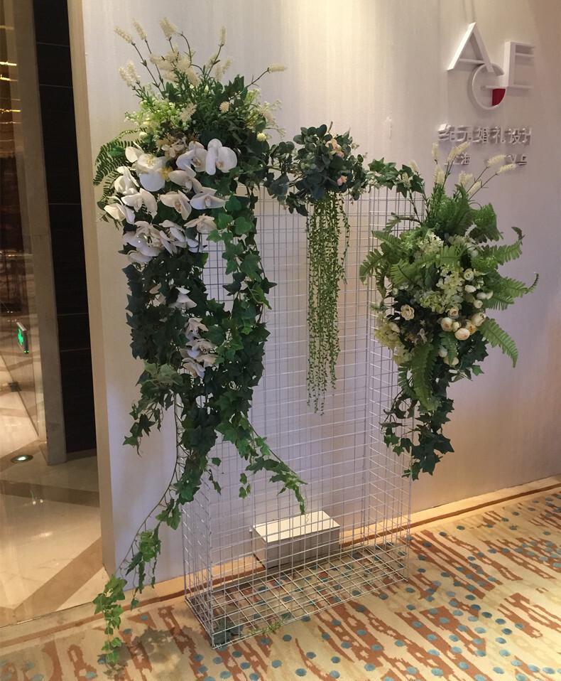 藤條裝飾 仿真植物綠植 藤條藤蔓 葡萄葉藤壁掛 塑料假花裝飾吊籃花卉平價屋