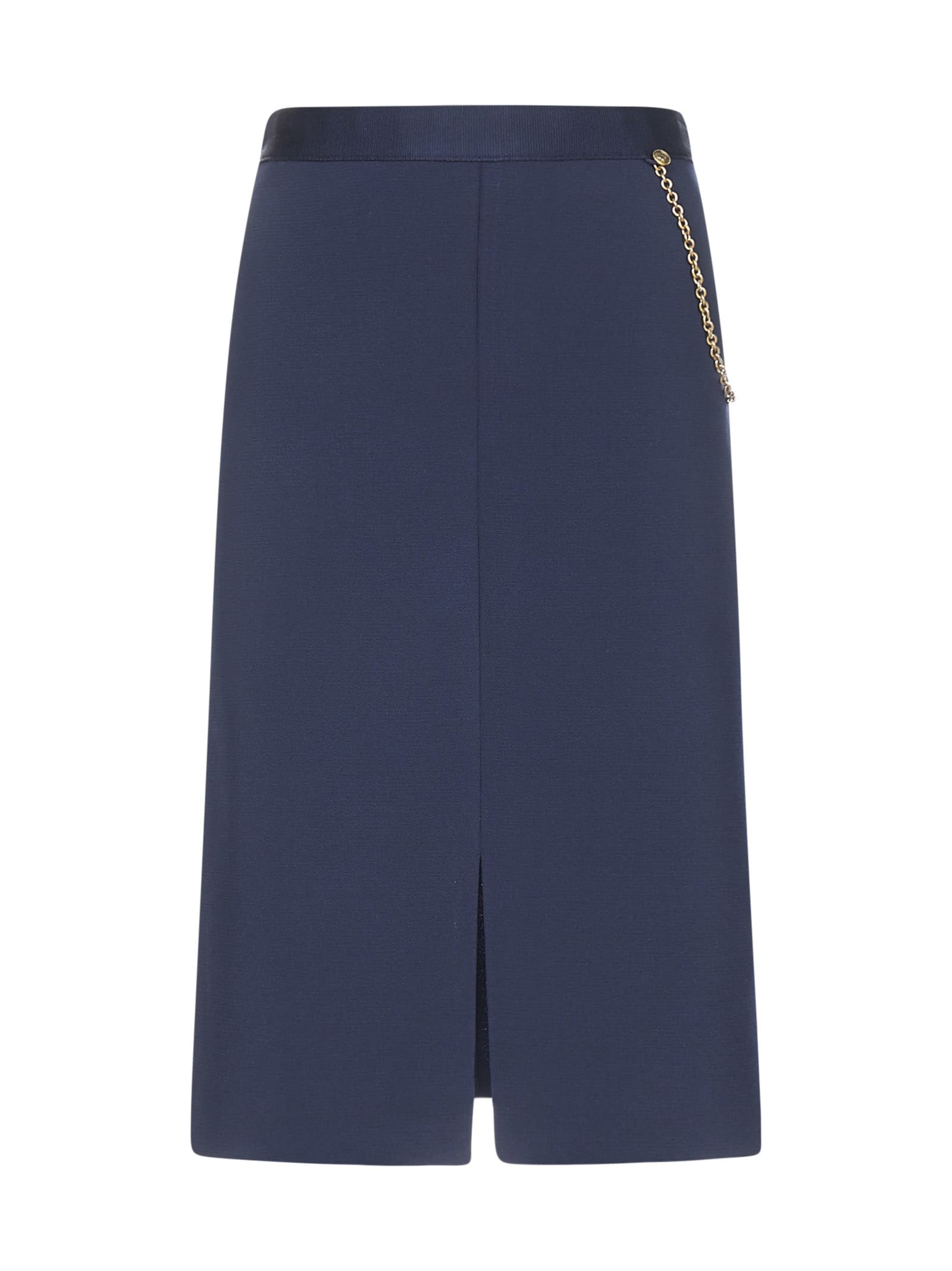 Givenchy Chain-detail Stretch Knit Skirt
