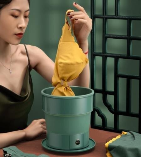 夯貨折扣! 折疊洗衣機 超聲波洗衣機家用可折疊洗衣機渦輪便攜式小型旅行內衣褲洗衣神器