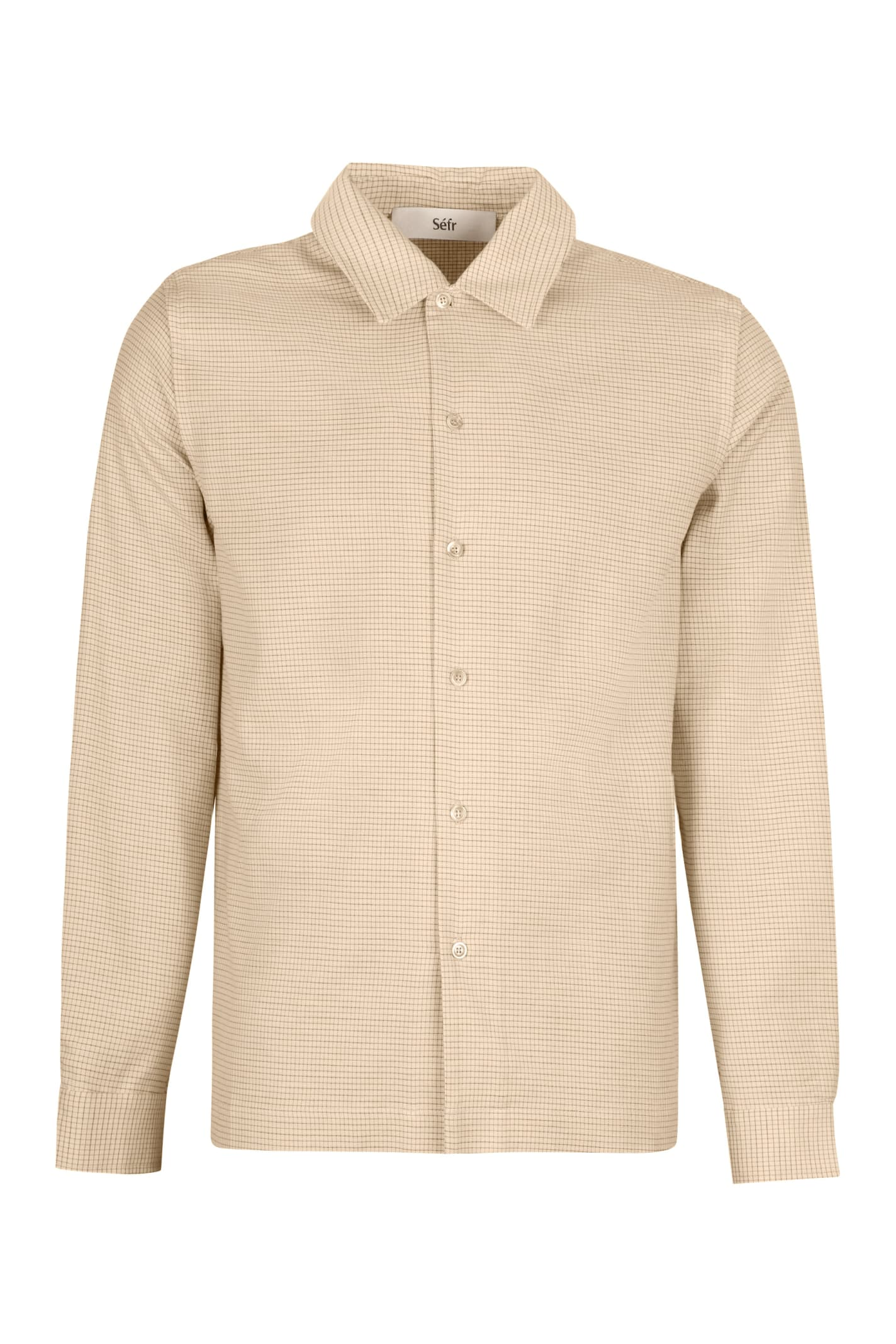 Séfr Rami Cotton Blend Buttoned Shirt
