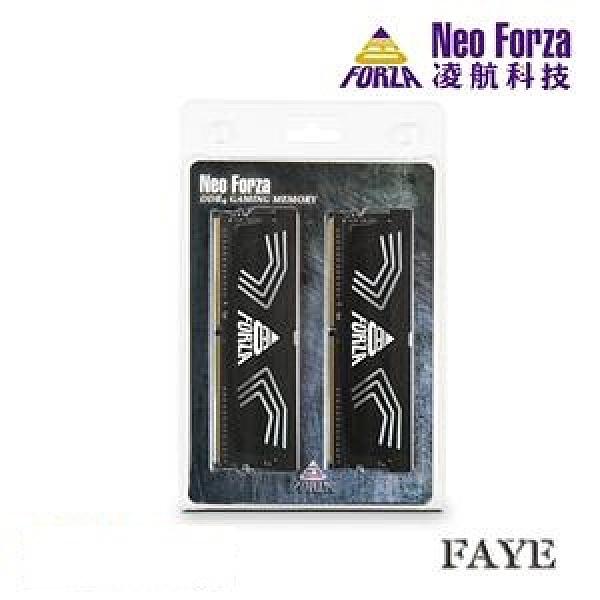 【綠蔭-免運】Neo Forza 凌航 FAYE DDR4 3600 32G(16G*2) 超頻 RAM(黑色散熱片) CL19