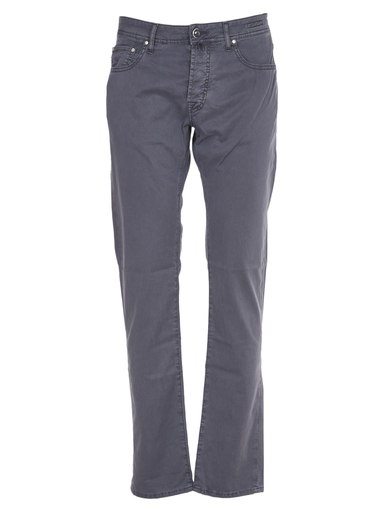 Jacob Cohen Grey Cotton Trousers