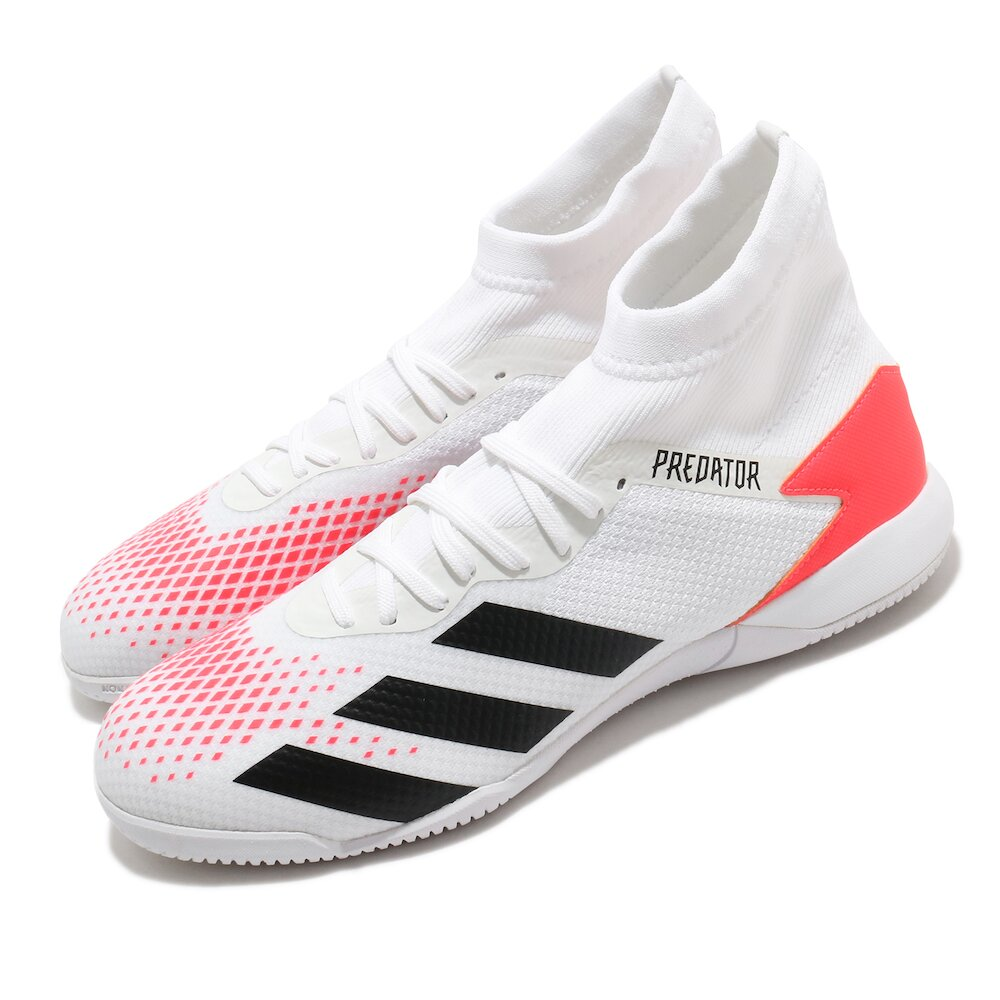 ADIDAS 足球鞋 Predator 20.3 IN 男鞋 愛迪達 三線 室內 水泥地 木地板 無鞋釘 白紅 [EG0916]