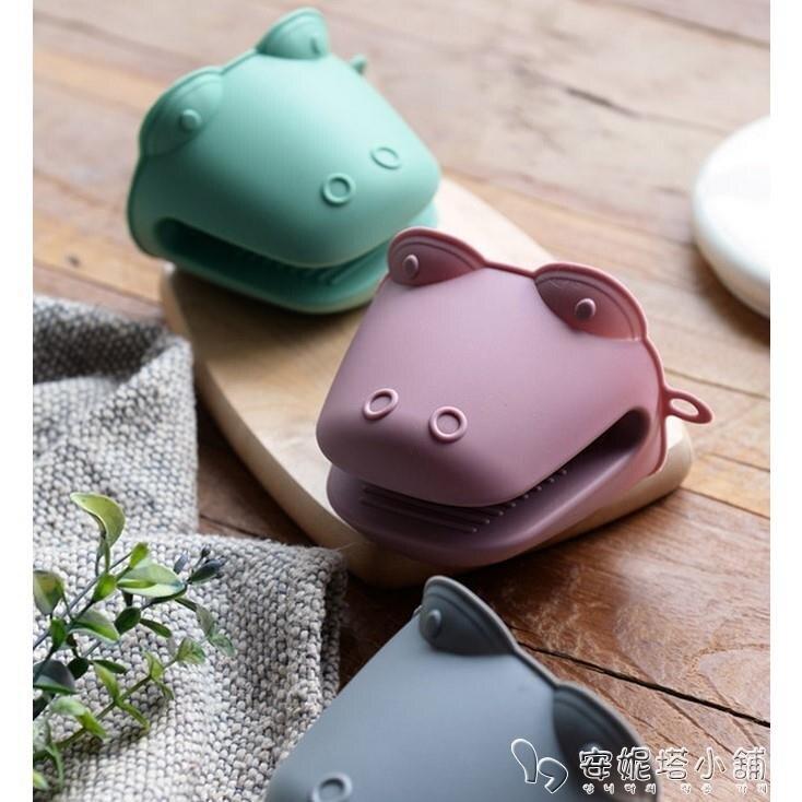 夯貨折扣! 韓國進口微波爐烤箱手套耐高溫隔熱防燙手套烤箱烘焙加厚防水硅膠 安妮塔小铺
