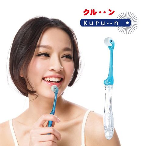 KURUN 滾輪牙刷 成人摺疊型-藍