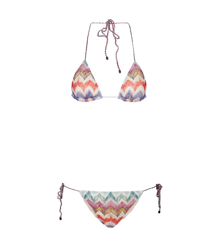 Zig-zag knit bikini