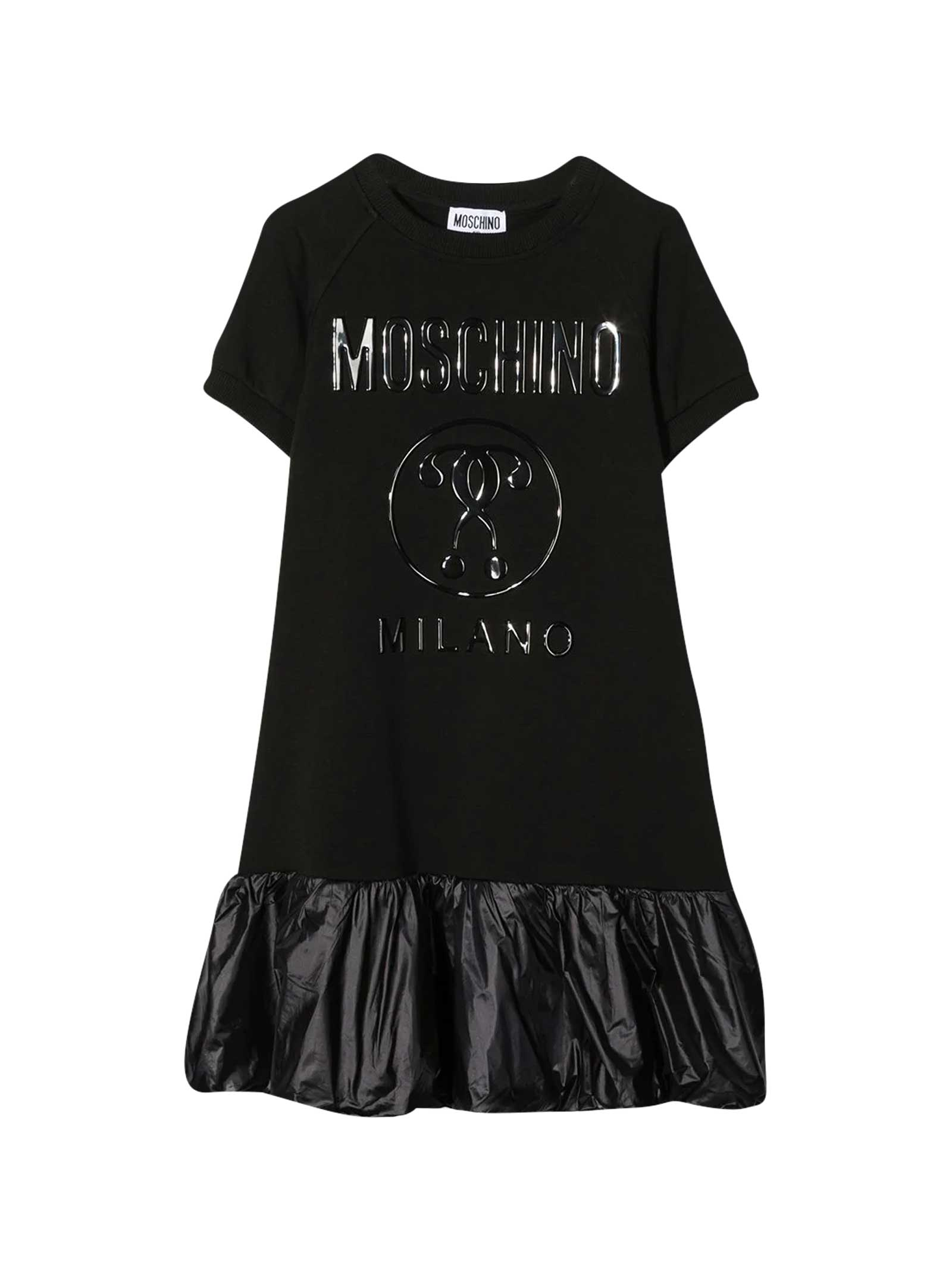 Moschino Black Dress With Frontal Logo