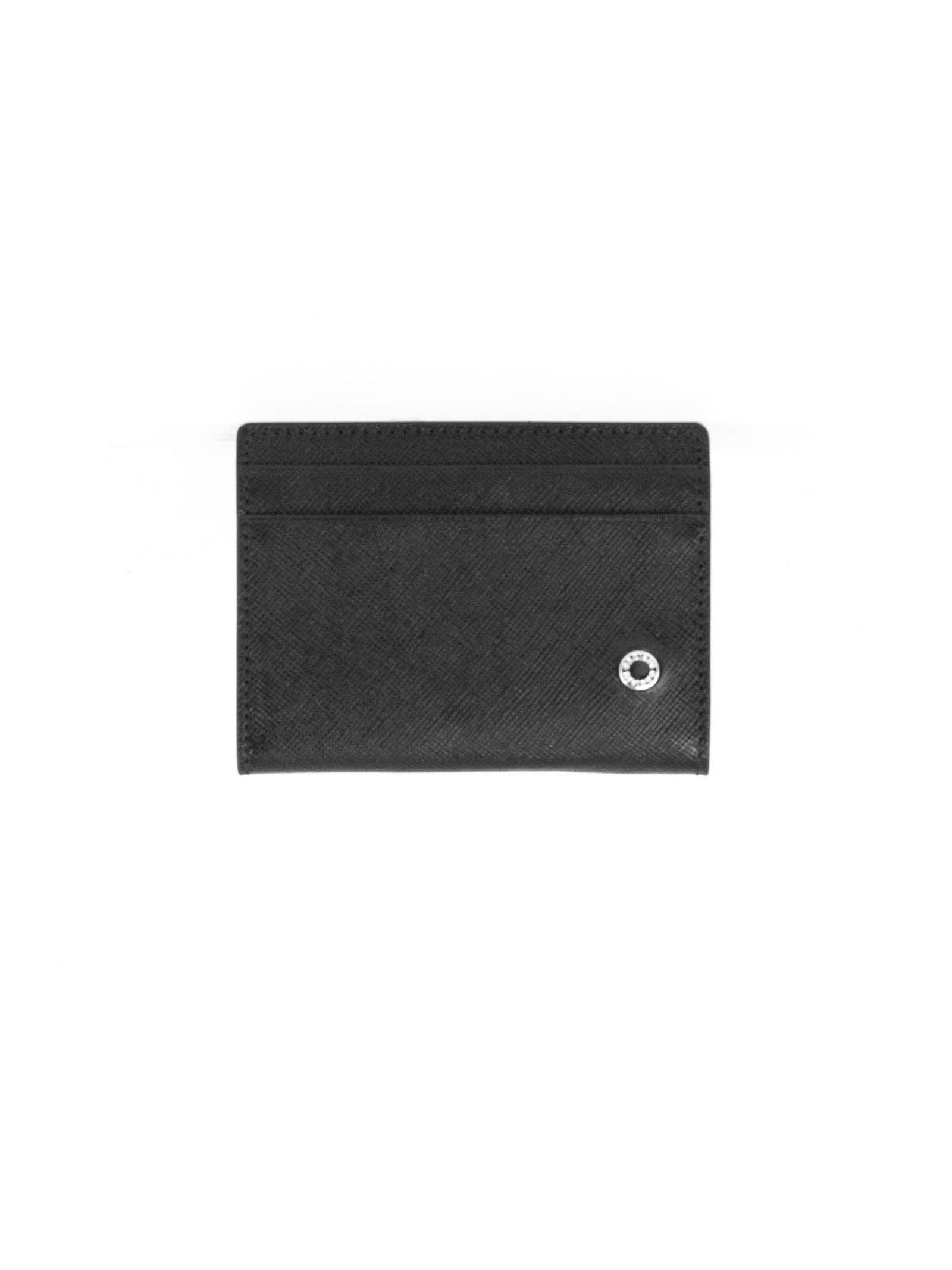 Orciani Black Leather Card Holder