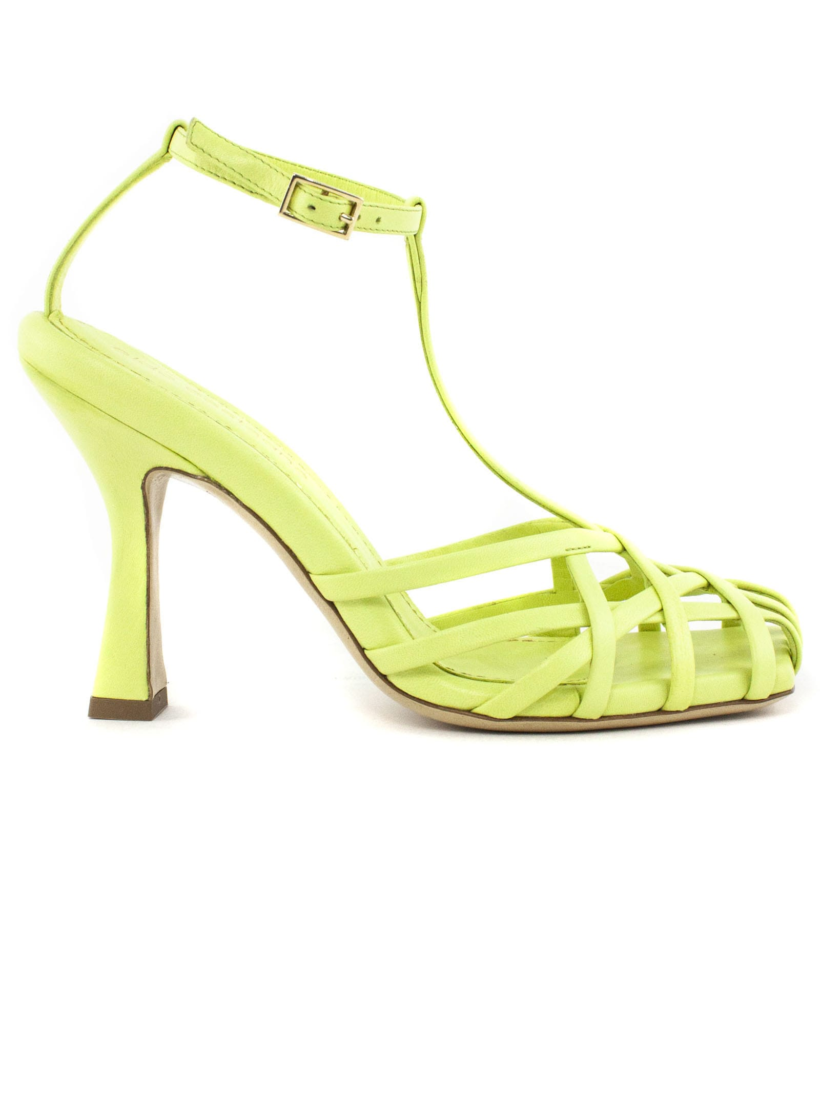 Aldo Castagna Lidia Green Leather Sandal