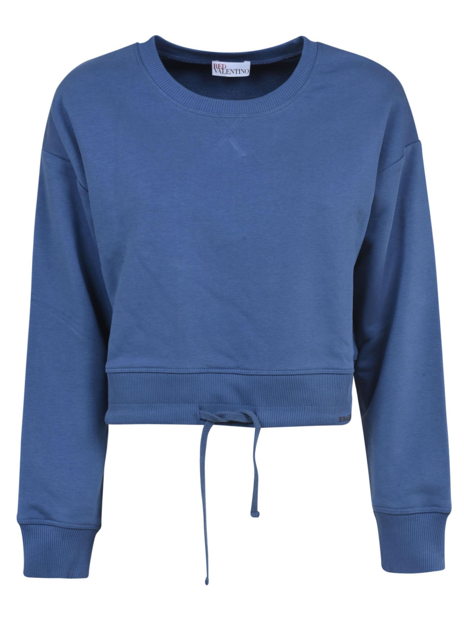 RED Valentino Tie-hem Plain Sweatshirt
