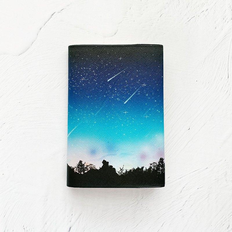 Book Cover Meteor LIGHT / Book BOOK Bunko Book Space Space Pattern Galaxy Galaxy Star Star Sky Night