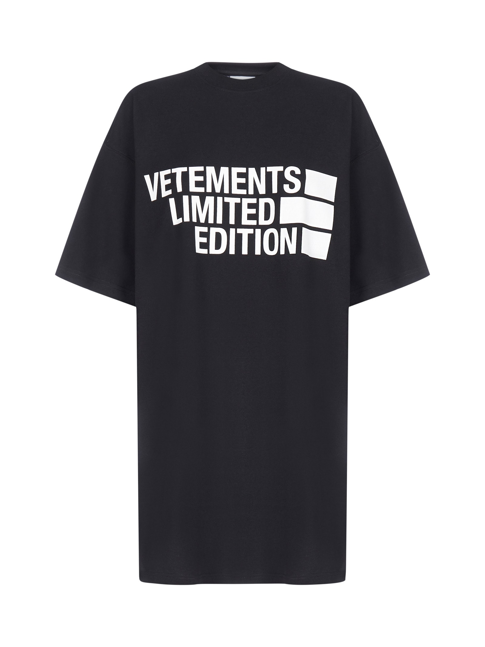 VETEMENTS Limited Edition Logo Oversized Cotton T-shirt