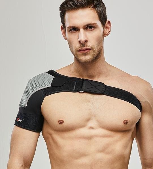 夯貨折扣! 護肩帶 運動護肩健身男女單肩網球羽毛球訓練籃球護肩帶防專業護具