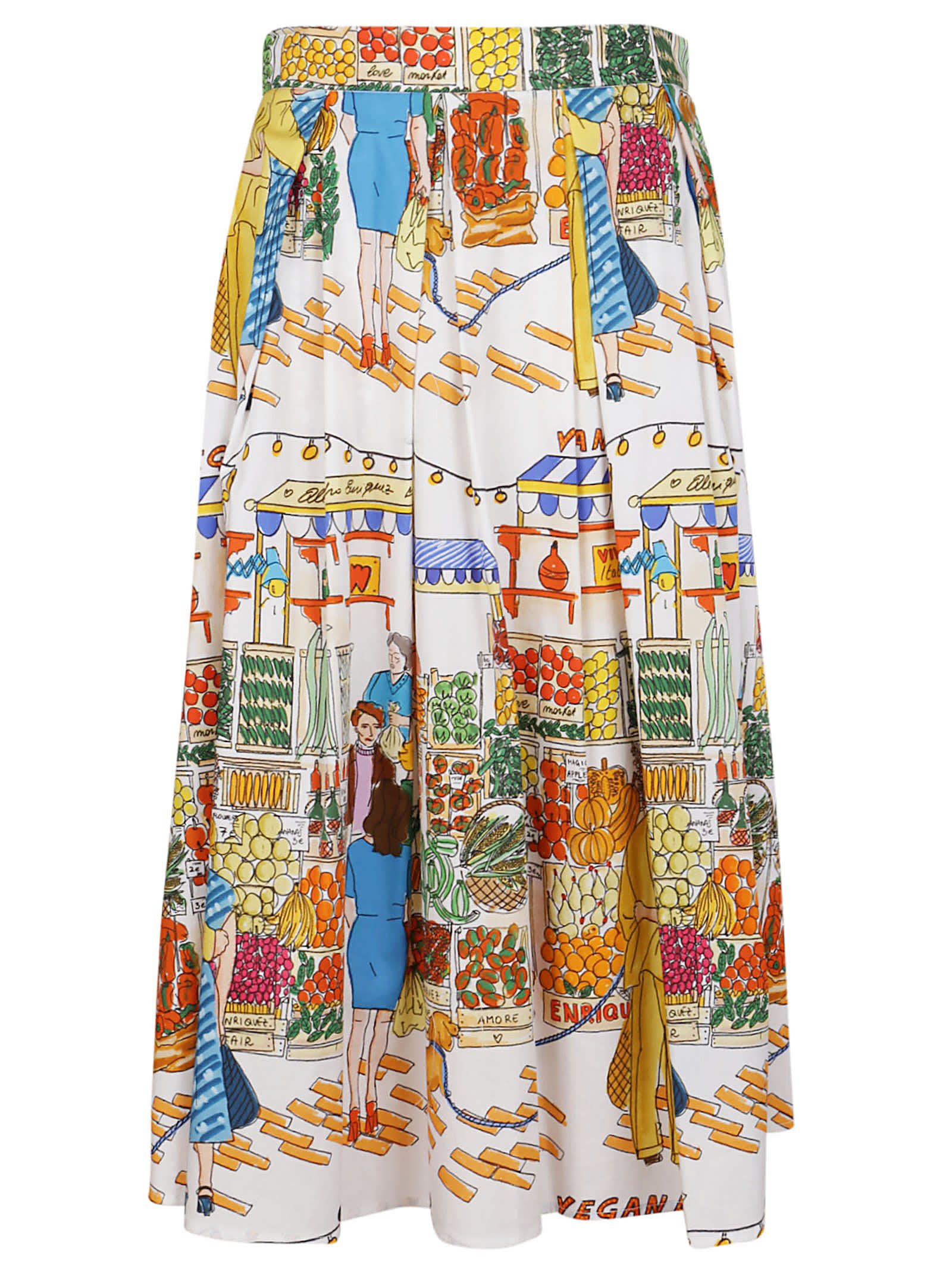 Multicolor Cotton Skirt