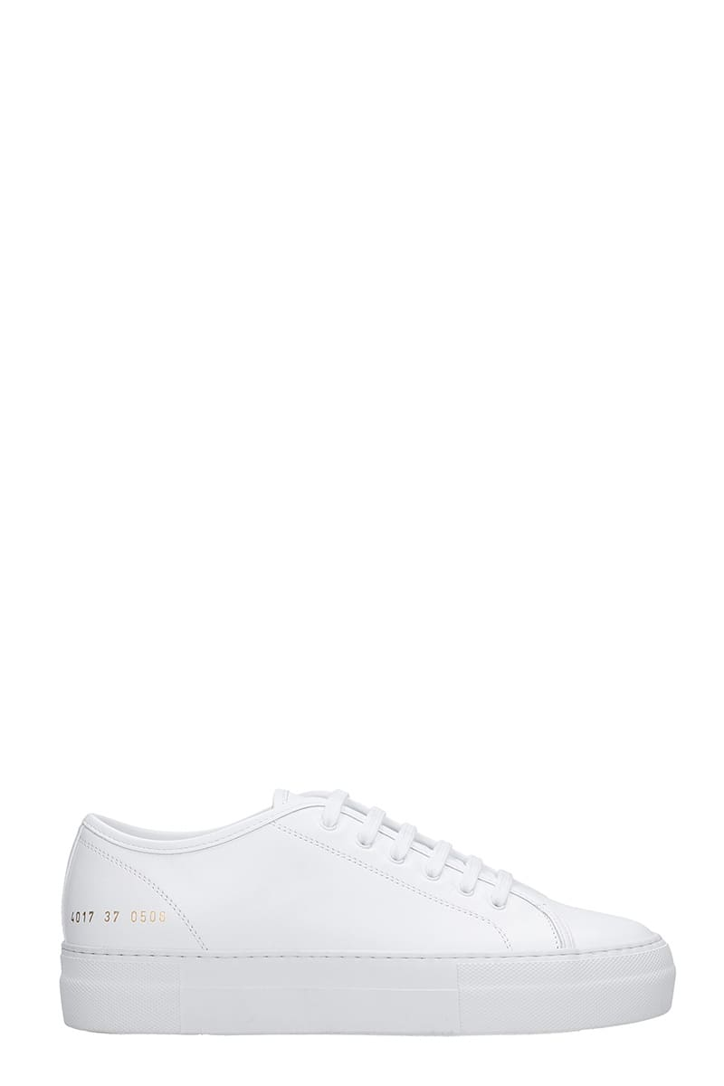Common Projects Tournament Sneakers In White Leather