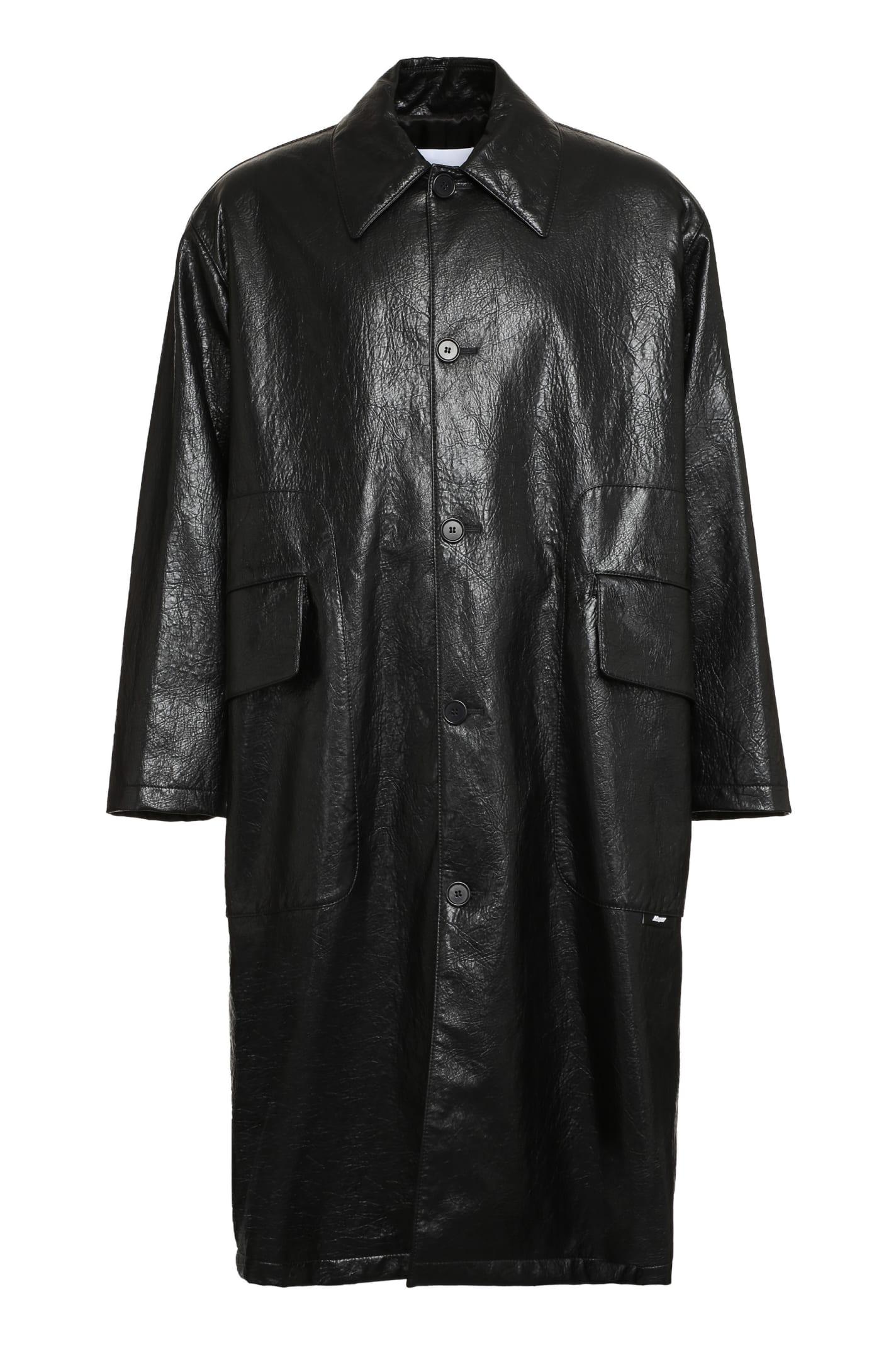 MSGM Faux Leather Coat