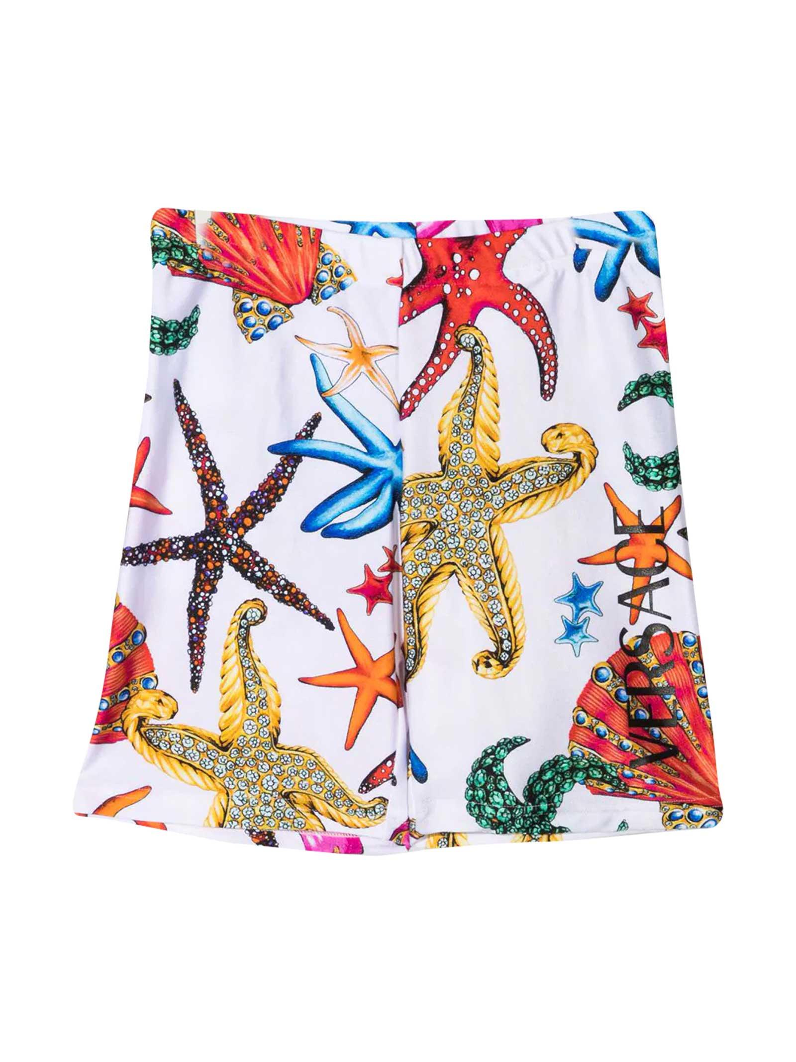 Young Versace Print Swim Shorts