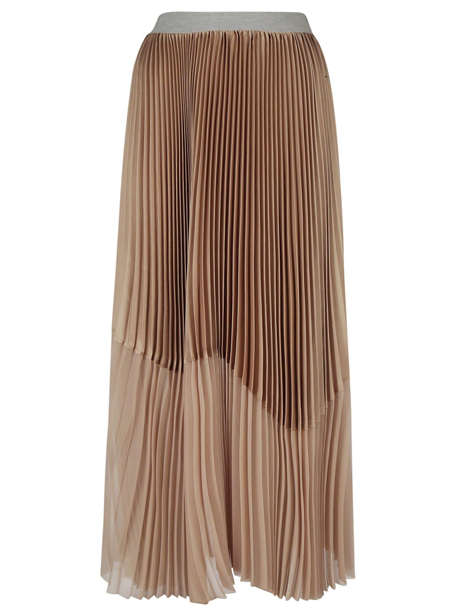 Fabiana Filippi Asymmetric Plisse Pleated Skirt