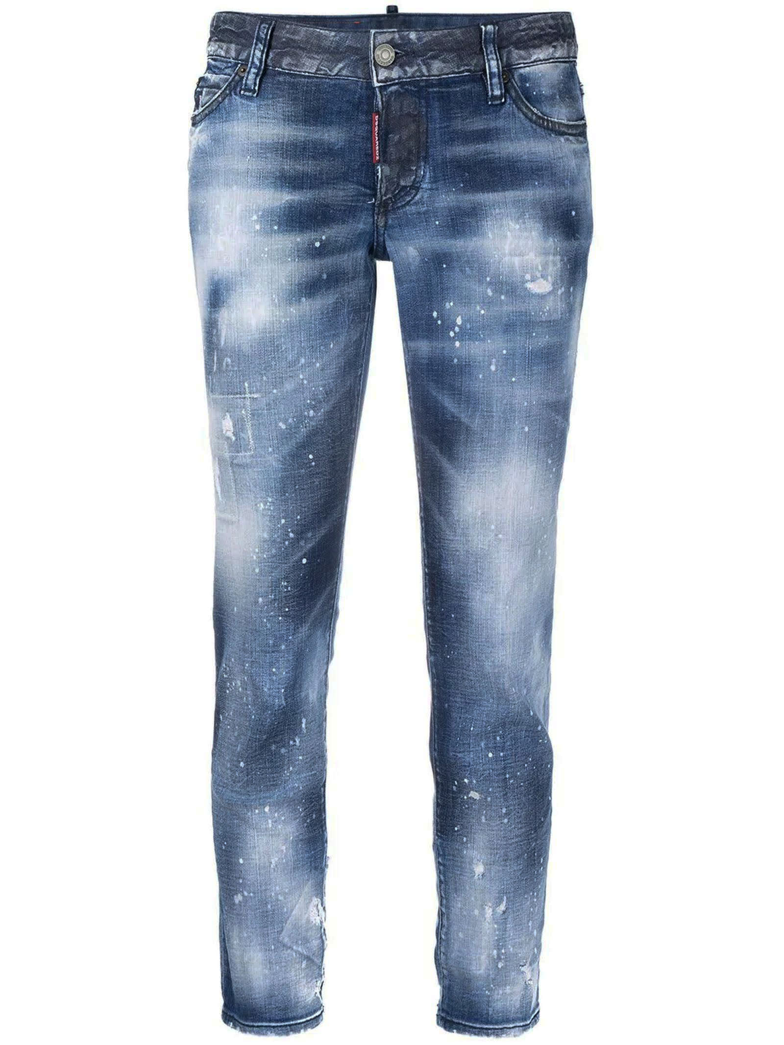 Dsquared2 Light Blue Stretch-cotton Denim Jeans