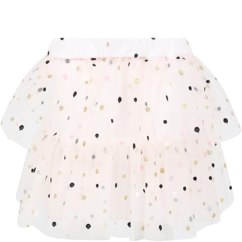 Philosophy di Lorenzo Serafini Pink Skirt For Girl With Poka-dots